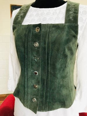 A Gwand vom Sepp Traditional Vest dark green-forest green leather