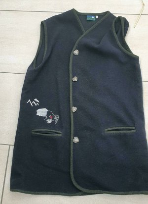 Country Life Knitted Vest dark blue-dark green polyester