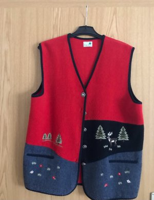Folk Line Traditional Vest red