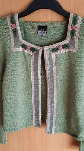 Pfister Austria Chaleco de punto verde hierba-rosa claro Algodón