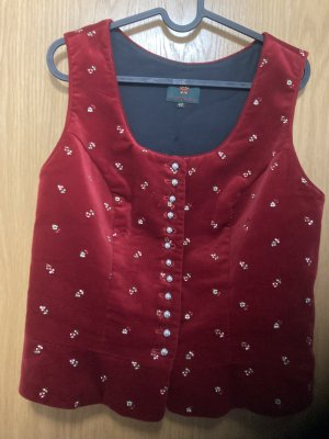 K & K Kaiserjäger Traditional Vest raspberry-red