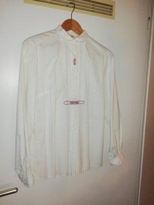 gössl Folkloristische blouse wit-donkerrood