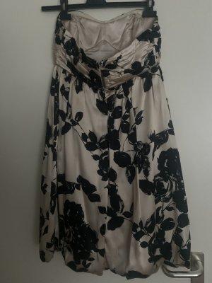 Peek & Cloppenburg Sukienka z rękawem balonowym kremowy-czarny