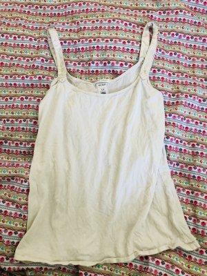 Old Navy Camiseta sin mangas blanco puro Algodón
