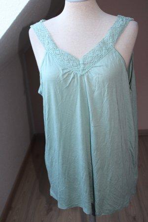Top di merletto verde chiaro Viscosa