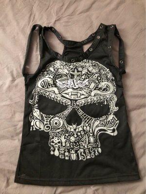 Träger Top Shirt Skull gr 34 XS