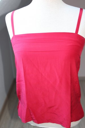 Trägerhemd Tägertop rot Seide Gr. 36 S Top Oberetil Seidentop