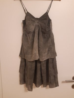 Carla G. Pinafore dress silver-colored-light grey cotton