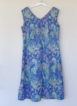 no name Summer Dress light blue-neon blue mixture fibre