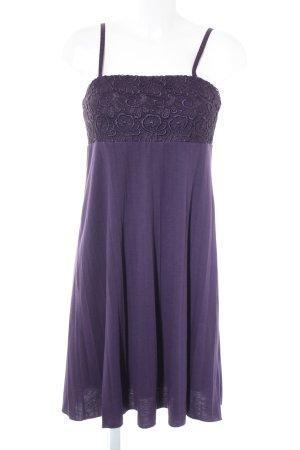 Trägerkleid dunkelviolett Elegant