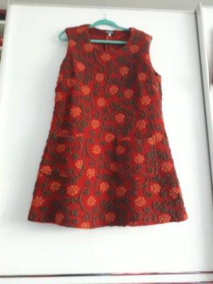 Deerberg Wełniana sukienka pomarańczowy-ceglasty
