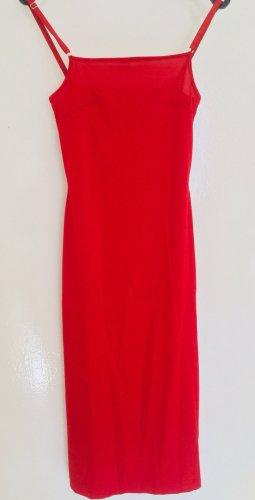 H&M Divided Vestido elástico rojo Poliéster