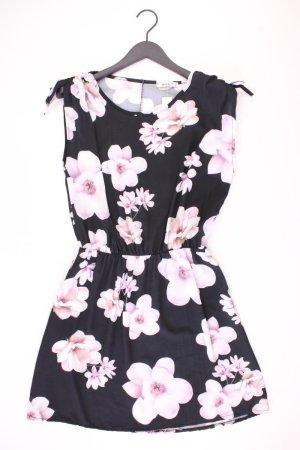 Trägerkleid Größe M mit Blumenmuster schwarz aus Polyester