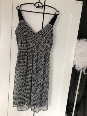 Trägerkleid Kleid schwarz weiß