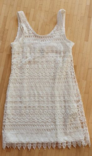 H&M Divided Lace Dress white