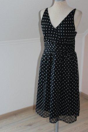 Trägerkleid schwarz weiße Punkte Gr. 38