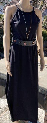 Trägerkleid Sommerkleid Maxi Kleid Baumwolle Maxikleid schwarz Casual Wear Bohemien Gr. 40-42 Achselbreite misst ca. 45 cm  Länge ca. 144 cm seitlicher Schlitz NEU!!!