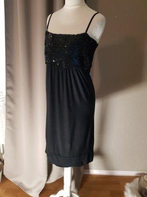 Cekinowa sukienka czarny Wiskoza