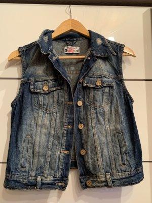 Trägerlose Jeansjacke