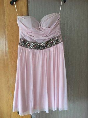 Trägerlose Kleid rosa