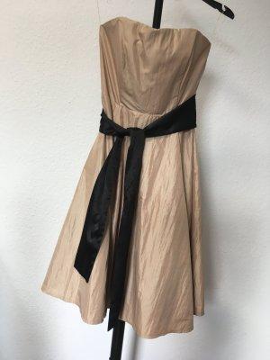 Trägerloses Abendkleid Orsay 36 Gold/Bronze