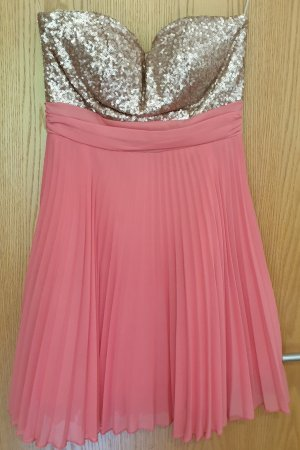 Elise Ryan Sequin Dress gold-colored-pink