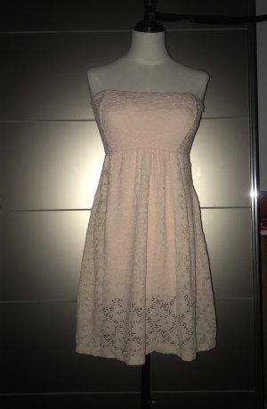 Trägerloses Damen Kleid in rosa mit Blumenmuster und schönem Rückenauschnitt Gr.S/M von Madonna