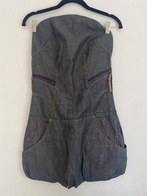 BSB Jeans Robe en jean bleu foncé-bleu coton