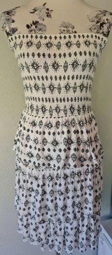 Lascana Off-The-Shoulder Dress white-black