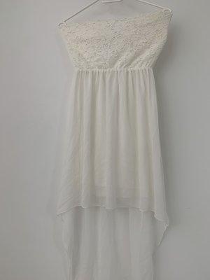 Mango Sukienka bez ramiączek biały