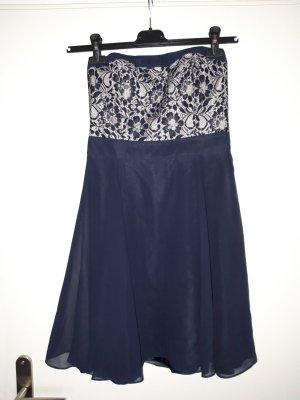 Laura Scott Bustier Dress blue
