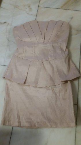Amisu Robe épaules nues vieux rose-rosé