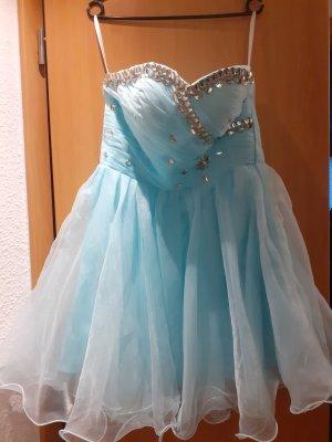 Off-The-Shoulder Dress baby blue