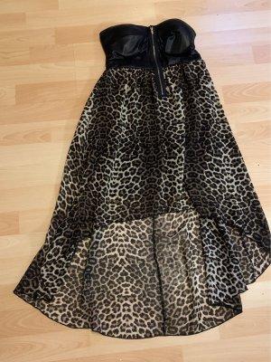 myhalys Sukienka gorsetowa czarny-brązowy