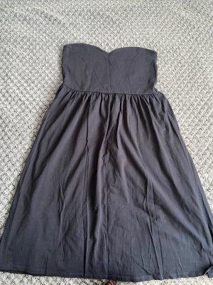 Asos Sukienka z dekoltem typu bandeau ciemnoniebieski