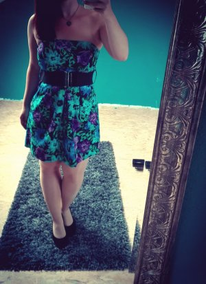 One green elephant Corsage Dress multicolored