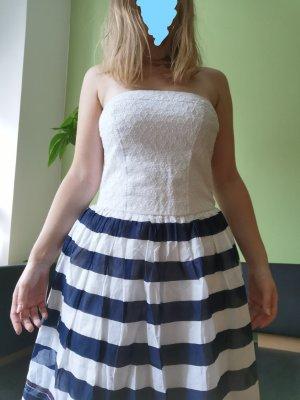 Hilfiger Denim Off-The-Shoulder Dress white-dark blue