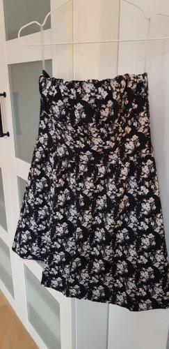 H&M Vestido con enagua blanco-negro