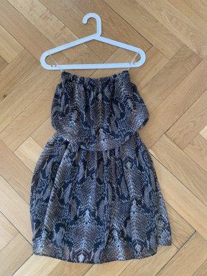 Trägerloses Kleid im Animalprint von Lily Rose