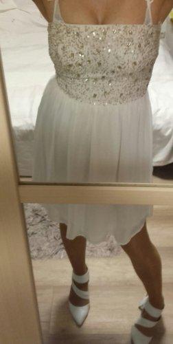 Trägerloses Kleid Pailetten Zara M