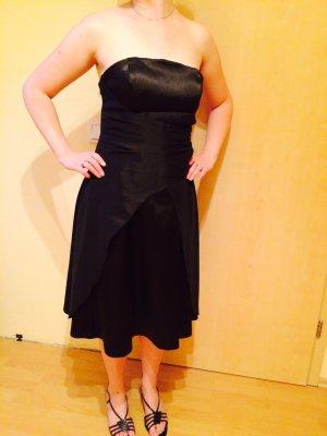 Trägerloses Kleid schwarz Gr 38