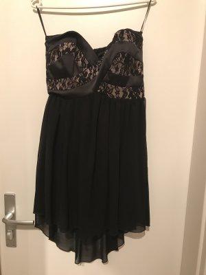 Trägerloses Kleid schwarz Spitze von Amisu, Größe 36