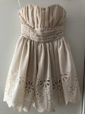 Trägerloses Kleid von H&M in Rosé Gr.34/XS.