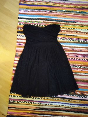 Tally Weijl Bandeau Dress black-gold-colored