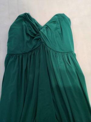 Sukienka bez ramiączek zielony Poliester