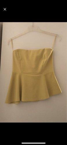 Zara Woman Bandeau top geel-neongeel