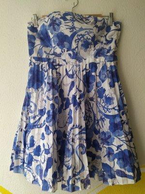 H&M Off-The-Shoulder Dress white-azure