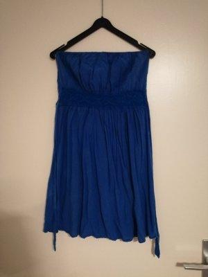 Trägerloses Sommerkleid blau