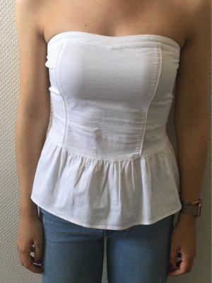 Amisu Top sin hombros blanco