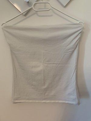 H&M Top sin hombros blanco